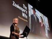 Jessica Chastain on Hand to Screen 'The Zookeeper's Wife' at Holocaust Museum