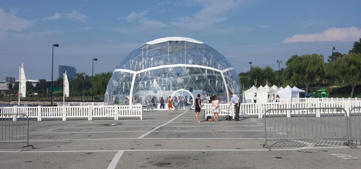 A Last Look Inside the National Harbor Snow Globe